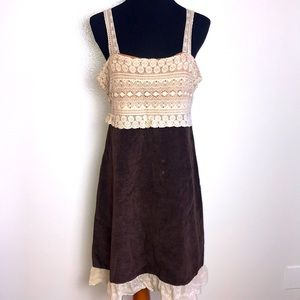 Anthropology Zehavale brown velvet dress